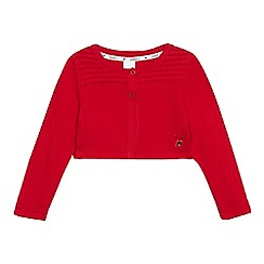 J by Jasper Conran - Girls' red cropped cardigan
