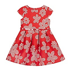 J by Jasper Conran - Girls' red floral jacquard dress