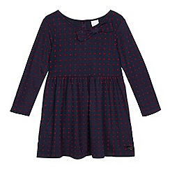 J by Jasper Conran - Girls' navy polka dot dress