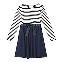 J by Jasper Conran - Girls' blue striped dress
