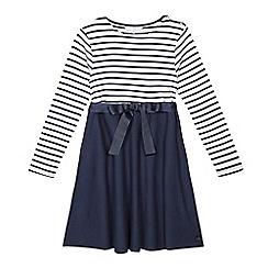 J by Jasper Conran - Girls' blue striped dress