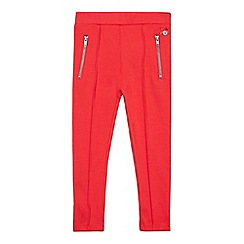 J by Jasper Conran - Girls' red zip jeggings