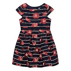 J by Jasper Conran - Girls' navy striped floral dress