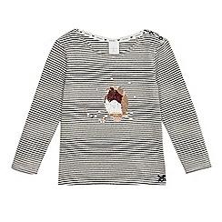 J by Jasper Conran - Girls' white striped robin top