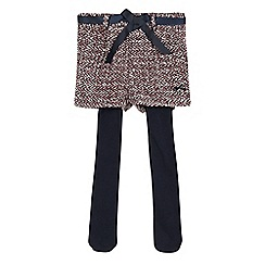 J by Jasper Conran - Girls' multi-coloured tweed shorts and navy tights set