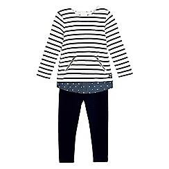 J by Jasper Conran - Girls' navy two piece stripe set