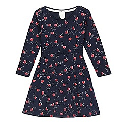 J by Jasper Conran - Girls' navy robin print dress