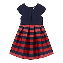 J by Jasper Conran - Girls' navy striped print dress