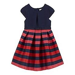 J by Jasper Conran - Girls' navy striped print dress