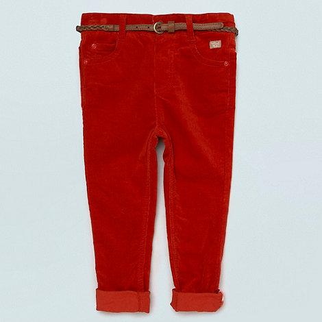 RJR.John Rocha - Designer girl+s dark orange belted corduroy trousers