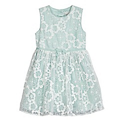 RJR.John Rocha - Girls' pale green floral embroidered dress