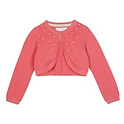 RJR.John Rocha - Girls' pink floral applique cardigan