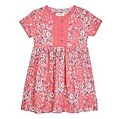 Mantaray - Girls' pink floral print jersey dress
