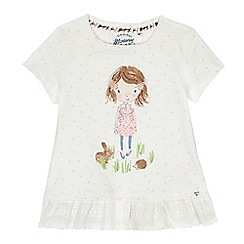 Mantaray - Girls' off white girl print top