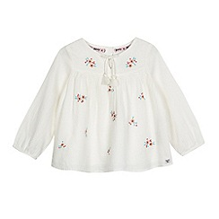 Mantaray - Girls' off white textured floral top