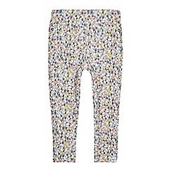 Mantaray - Girls' dark blue floral print textured jeggings