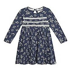 Mantaray - Girls' blue floral jersey dress