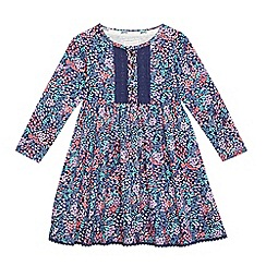 Mantaray - Girls' multi-coloured floral print dress