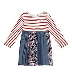 Mantaray - Girls' multi-coloured patchwork dress