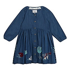 Mantaray - Girls' blue chambray dress