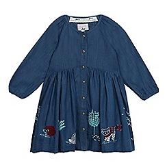 Mantaray - Girls' blue chambray dress