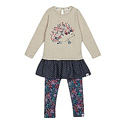 Mantaray - Girls' multi-coloured hedgehog tunic and leggings set