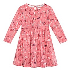 Mantaray - Girls' pink woodland print dress