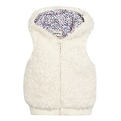 Mantaray - Girls' cream sherpa gilet