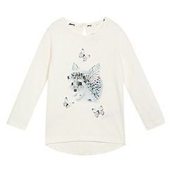 Mantaray - Girls' white hedgehog print top