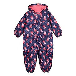 Peppa Pig - Navy Peppa Pig print puddle suit