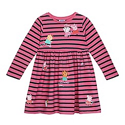 Peppa Pig - Girls' pink 'Peppa Pig' applique jersey dress