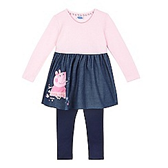 Peppa Pig - Girls' pink 'Peppa Pig' tunic and leggings set