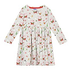 Peppa Pig - Girls' grey 'Peppa Pig' print jersey dress