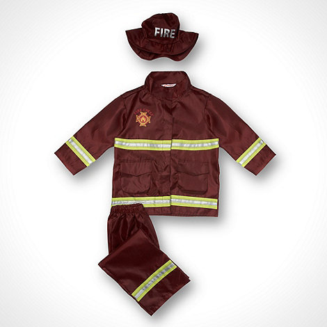 bluezoo - Boy+s red firefighter costume