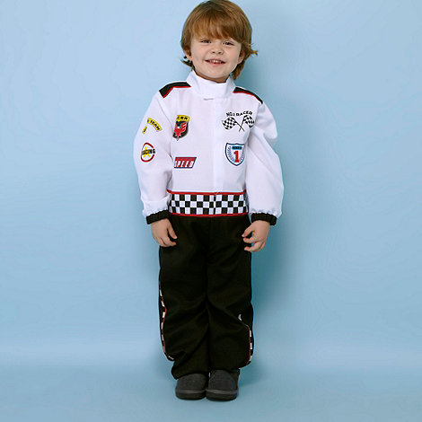 bluezoo - Boy's multi racing driver dress up costume-age 3-6 years