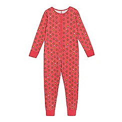 BBC Children In Need - BBC Children In Need girls' pink 'Pudsey' print onesie