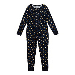 BBC Children In Need - Boys' navy Pudsey print all-in-one
