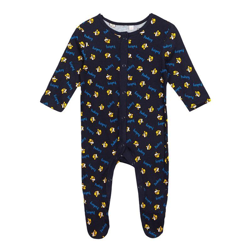 Baby boys navy BBC Children In NeedPudsey sleepsuit