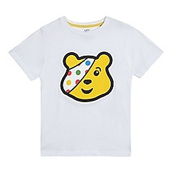 BBC Children In Need - Children's white 'Pudsey' print t-shirt