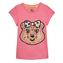 BBC Children In Need - Girls' pink sequin embellished 'Blush' t-shirt
