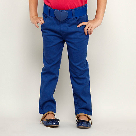 bluezoo - Girl+s blue heart belted jeggings