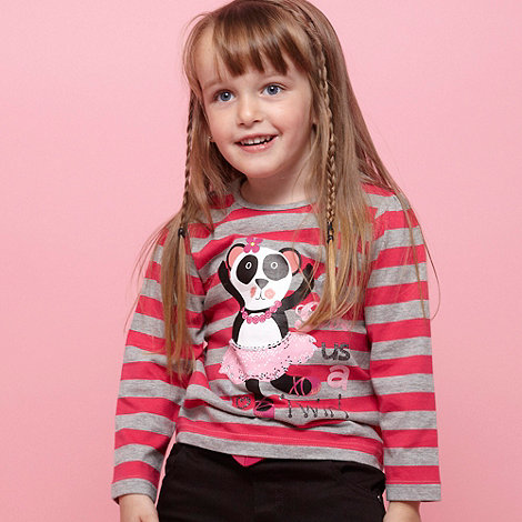 bluezoo - Girl+s set of two pink panda top and white star top