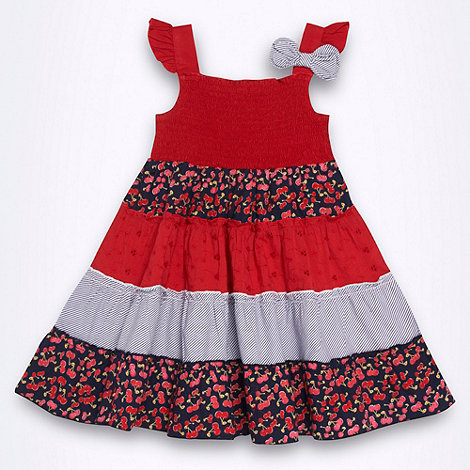 bluezoo - Girl+s red tiered dress