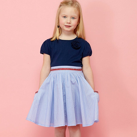 bluezoo - Girl+s blue striped skirt dress