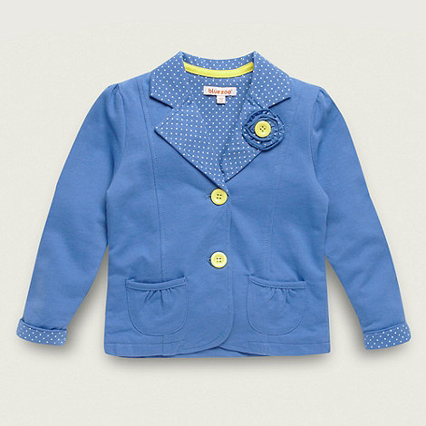 bluezoo - Girl+s blue jersey sweat blazer
