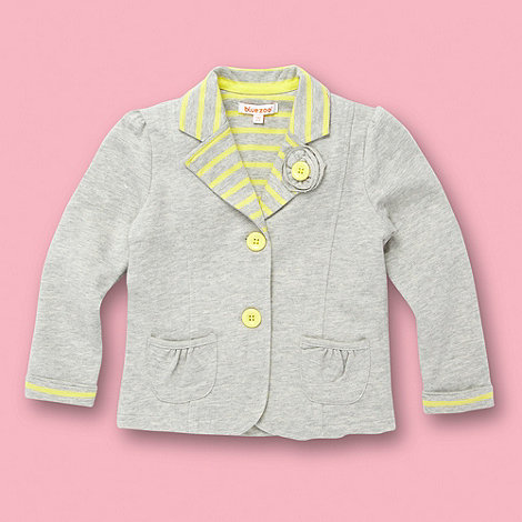 bluezoo - Girl+s light grey jersey sweat blazer