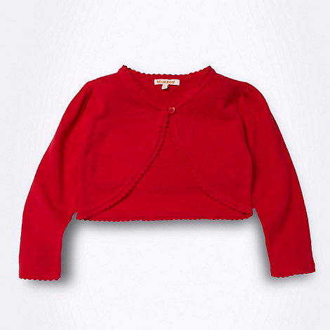 bluezoo - Girl+s red cropped cardigan