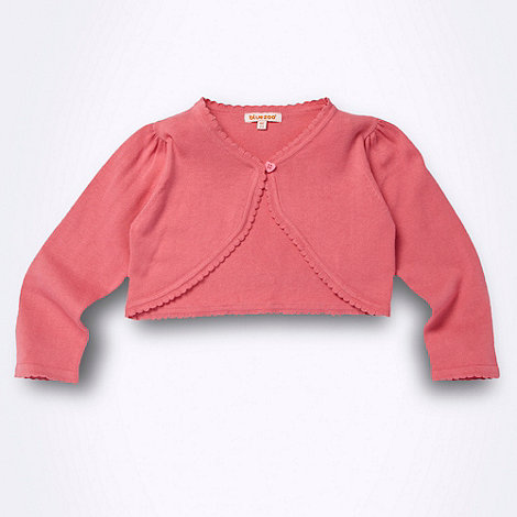 bluezoo - Girl+s pink cropped cardigan