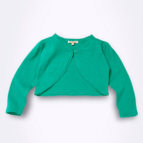 bluezoo - Girl+s green cropped cardigan