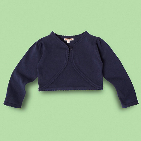 bluezoo - Girl+s navy cropped cardigan